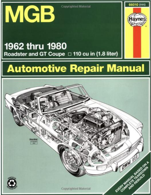 Haynes MGB Automotive Repair Manual