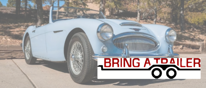 Austin Healey with BaT - Bring a Trailer Logo, links to the auction for the car