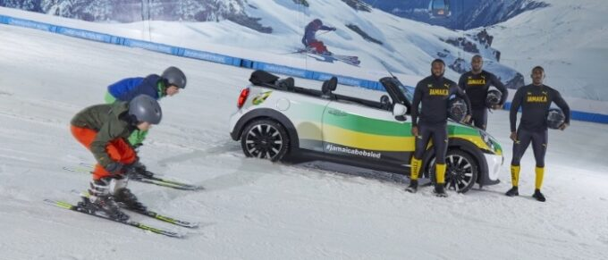 Jamaican Bobsled team get creative during lockdown with a MINI Convertible - Looking at slopes