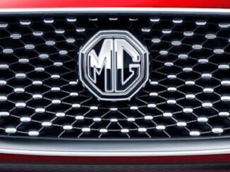 MG Car Company Logo Badge on Front of Car