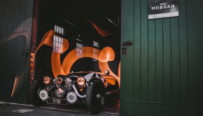 Morgan Bicester 3 wheeler in door