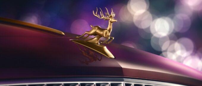 Santa's Reindeer Eight Flying Spur - 3 Bespoke Hood Ornament