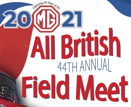 45th Annual All British Field Meet - Portland, OR - 2021 MG Poster