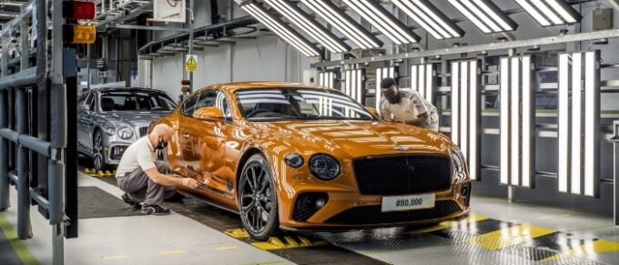 80,000th Bentley Continental GT produced in Crewe