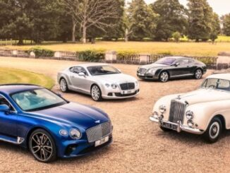 Lineup of current and classic Bentley Continentals
