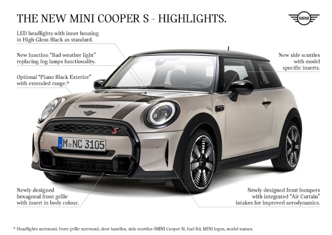 MINI USA unveils new MY 2022 MINI Hardtops and Convertibles - External Highlights of Cooper S