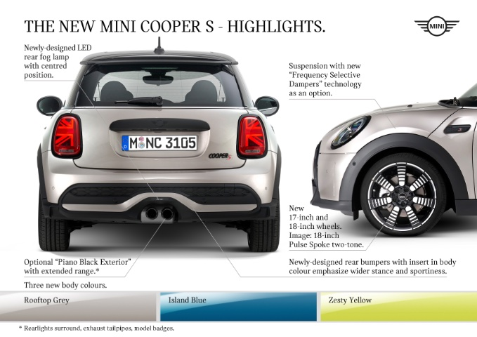 MINI USA unveils new MY 2022 MINI Hardtops and Convertibles - Cooper S Highlights of Rear Exterior