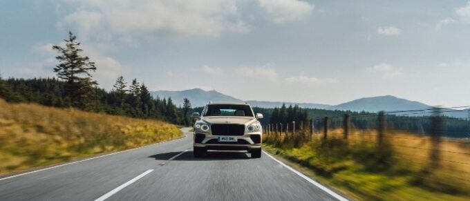 New Bentayga Hybrid - front view on road