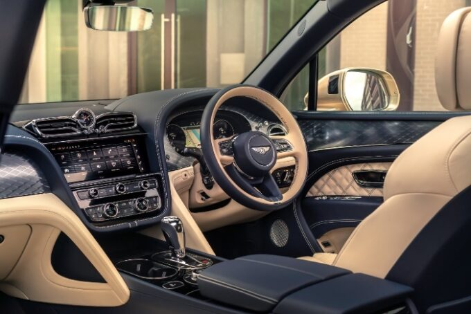 New Bentayga Hybrid - interior and dash