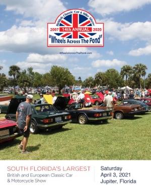 Wheels Across The Pond - Jupiter, Florida 2021 - Header Image