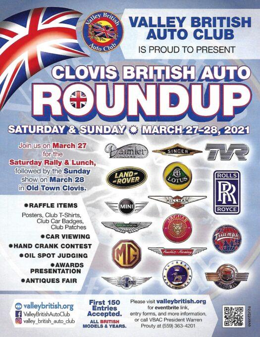 Clovis British Car RoundUp 2021