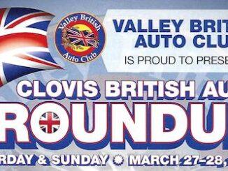 Clovis British Car RoundUp 2021 - Header