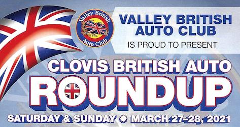 Clovis British Car RoundUp 2021 - Header