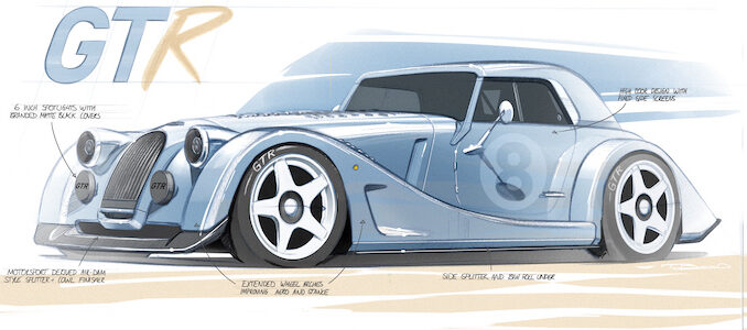 Morgan Plus 8 GTR Design