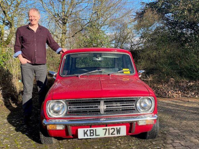 Graham Payne today, alongside British Motor Heritage's remarkably similar example