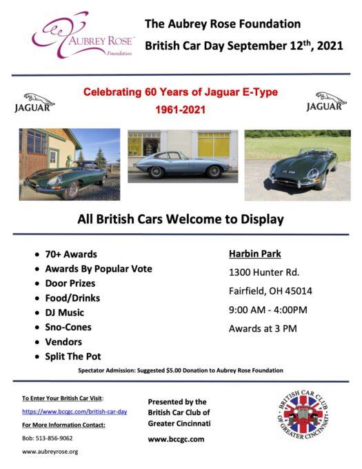 2021 British Car Day Flyer Cincinnati Ohio