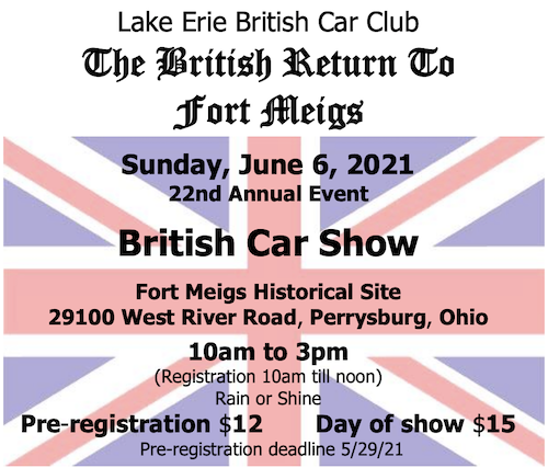 22nd Annual British Return to Fort Meigs Car and Bike Show - Ohio