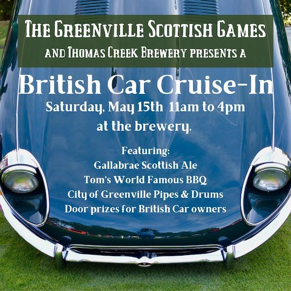 British Car Cruise-In at Thomas Creek Brewing - Greenville, SC