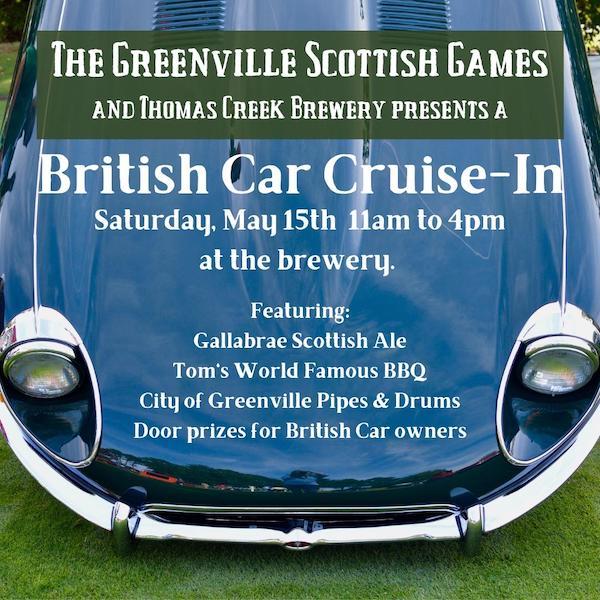 British Car Cruise-In at Thomas Creek Brewing - Greenville, SC