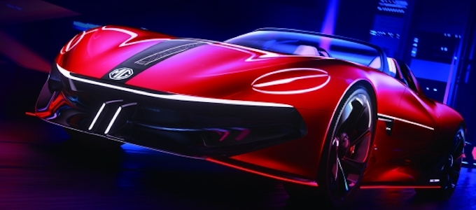 The MG Cyberster – striking sports concept to debut at Shanghai Show - Front 34 view