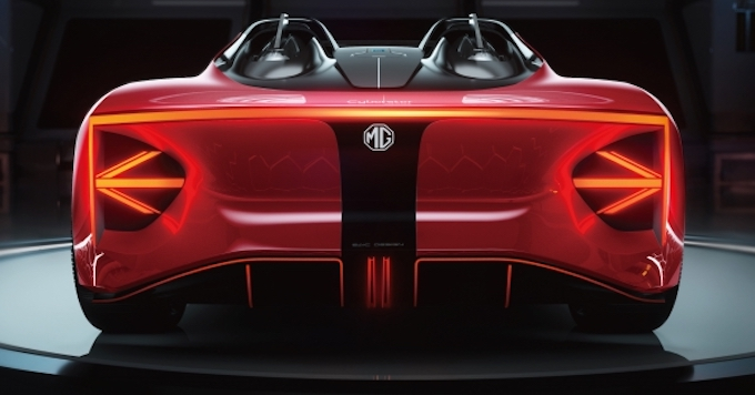 The MG Cyberster – striking sports concept to debut at Shanghai Show - Rear View