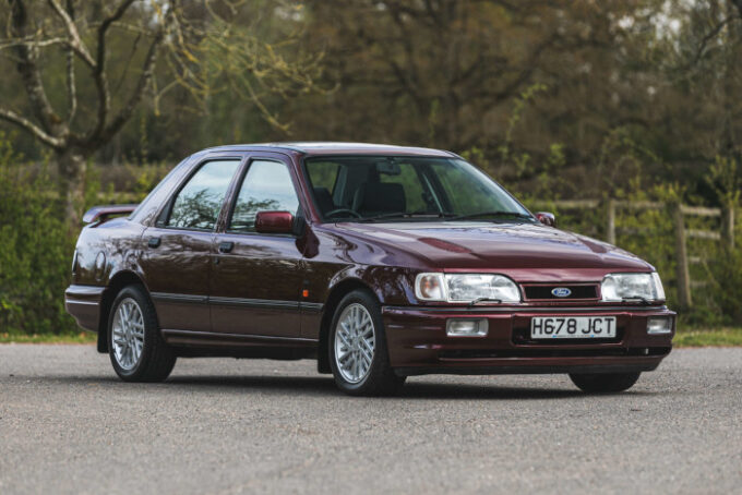 Silverstone Auctions Closes May Catalog with Low Mileage Examples -  1991 Ford Sierra RS Coswor