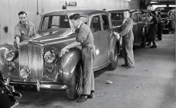 75 years at Crewe 2 1946 Bentley MKVI
