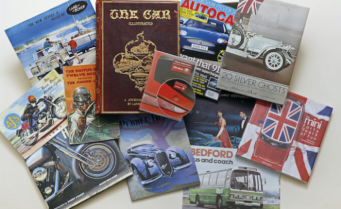 A selection of items from the Reference Library Collection, Credit - National Motor Museum Trust