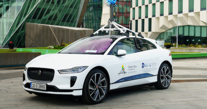 Jaguar I-PACE with Google Street View to measure air-quality
