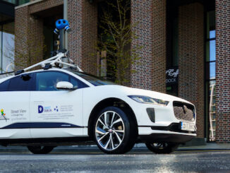 Jaguar I-PACE with Google Street View to measure air-quality - side view