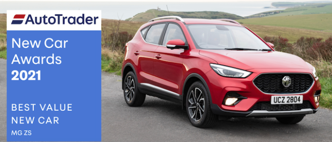 MG ZS Takes Double Awards in Auto Trader New Car Awards 202