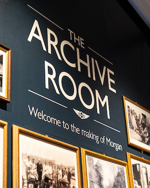 Morgan Motor Company opens interactive new museum The Archive Room at the redeveloped Morgan Experience Centre 00015