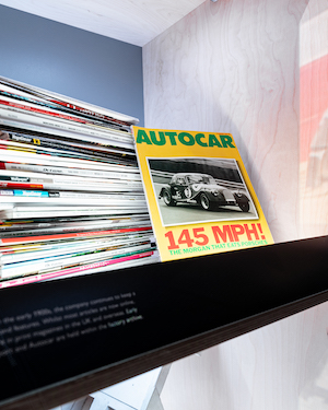 Morgan Motor Company opens interactive new museum The Archive Room at the redeveloped Morgan Experience Centre 00017