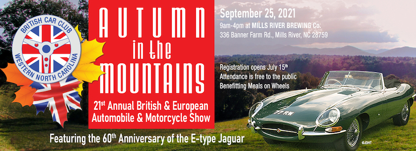 BCCWNC 21st Annual Autumn in the Mountains Automobile and Motorcycle Show - NC