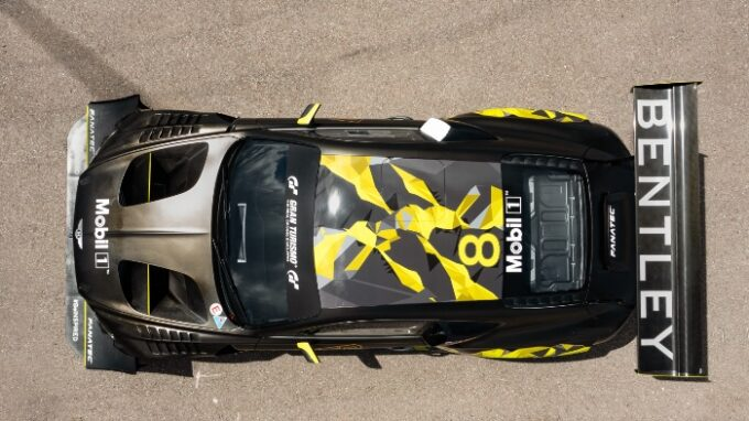 Continental GT3 Pikes Peak Livery - Direct down overhead view of pain scheme
