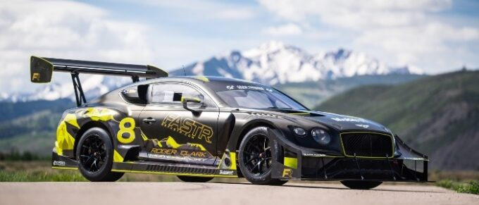 Continental GT3 Pikes Peak Livery - Low 34 Front view with mountains in background