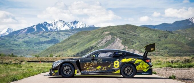 Continental GT3 Pikes Peak Livery - Side View with Pikes Peak in the Background