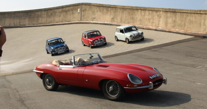 E-Type 60 - With Red, White, and Blue Italian Job Minis