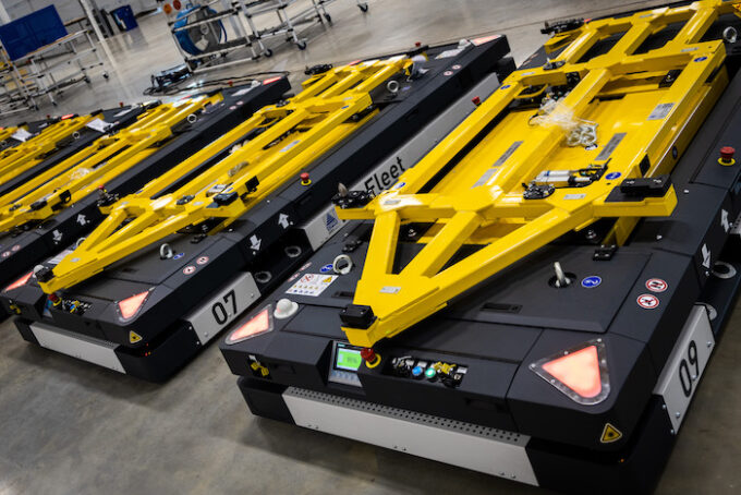 All-new Automatically Guided Vehicles (AGVs)