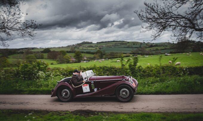 Natasha Lomas - Youngest Ever Navigator Finishes HERO-ERA Regularity Rally in 1936 Riley Sprite - Long view