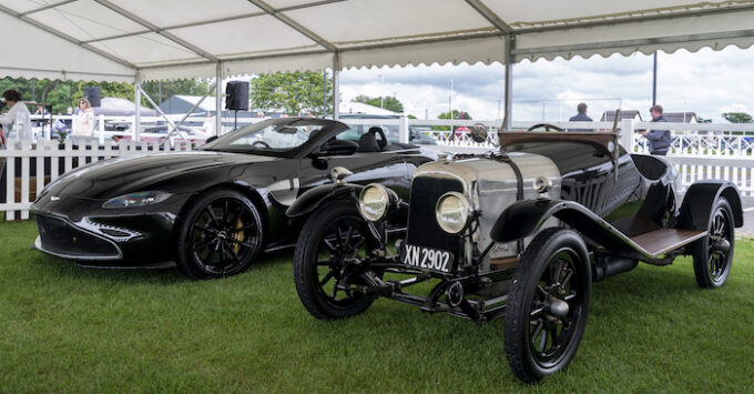 A3 and the Vantage Roadster A3 centenary edition at the Aston Martin Heritage Festival AMHT┬ Photo Max Earey