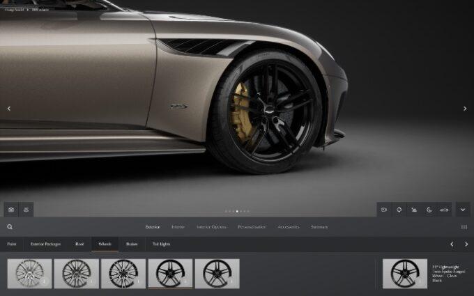 Aston Martin Configurator - nose and wheels