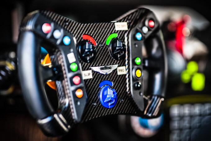 Aston Martin GT3 steering wheel