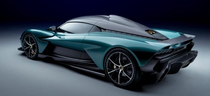 Aston Martin Valhalla Hybrid Supercar - 3/4 rear view