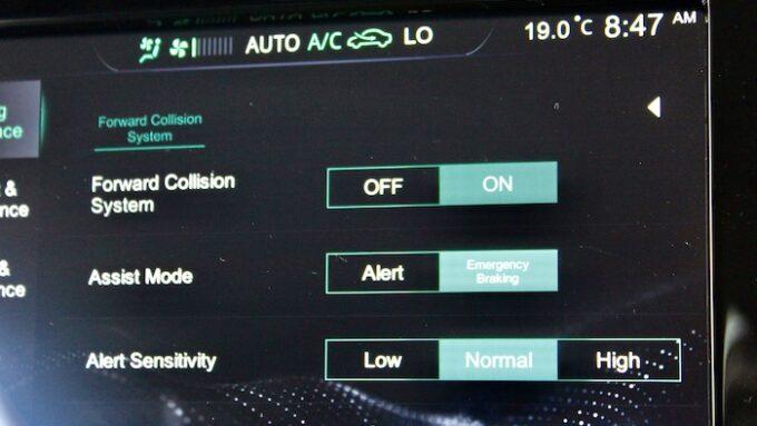 MG5 EV - New Longer Range Model - Control System Screen