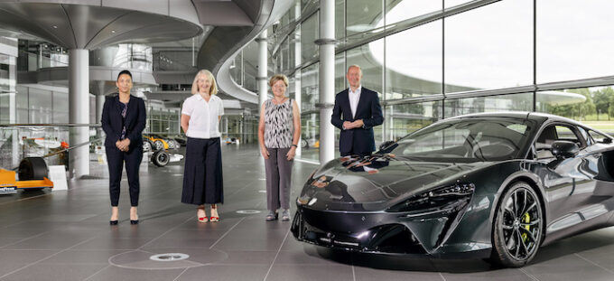 McLaren Automotive announces a charity partnership with PLAN International through STEM and other initiatives.