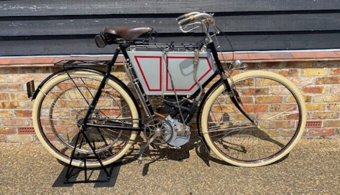 1901 Tiumph Motor Bcycle to be seen at Salon Privé