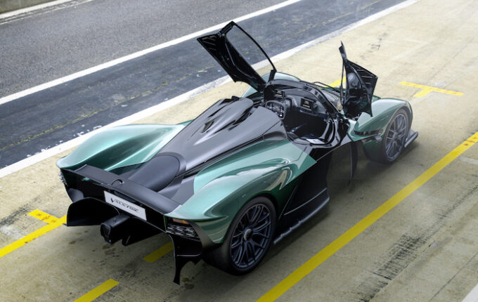 Aston Martin Valkyrie Spider - from above with doors open
