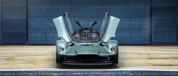 Aston Martin Valkyrie Spider - from front with doors open