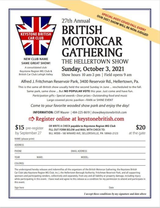27th Annual British Motorcar Gathering - PA